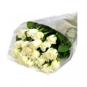 20 White Roses bunch