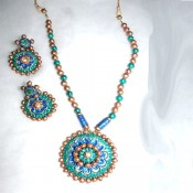 Green Terracotta Jewel set