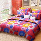 Multicolour Floral  Bed Sheet