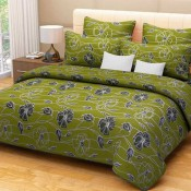 Green Floral  Bed Sheet