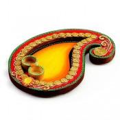 Mango Design Pooja Thali