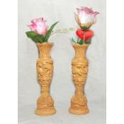 Wooden Flower Vase 6''