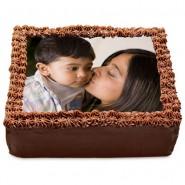 Chocolate Photo Cake for Mom-1kg