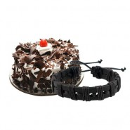 Yummy Blackforest Cake with Friendship Band