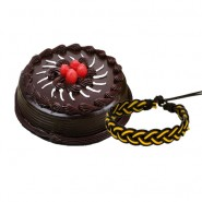 Delicious Chocolate Truffle cake with Friendship Band