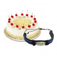 Tasty Whiteforest Cake With Friendship Band
