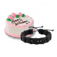 Vanilla cake with Friendship Band