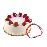 Strawberry Cake with Friendship Band
