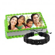 Photo cake with Friendship Band