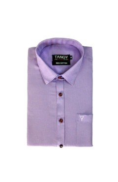 Purple Linen Full Shirt