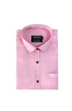 Baby Pink Linen Full Shirt
