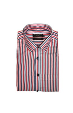 Red Black Lining Full Shirt