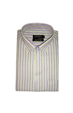 Green Purple Lining Full Shirt