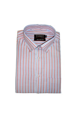Red Blue Lining Full Shirt