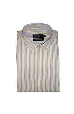 Yellow Blue Lining Full Shirt