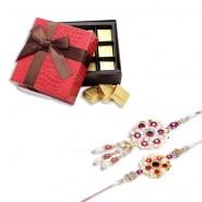 Pearls Bhaiya Bhabhi Rakhi With Indulgent Chocolates