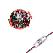 Red Diamond, Ad Diamond Rakhi With Basket Of Wishes