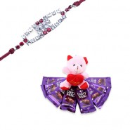 Red Diamond, Ad Diamond Rakhi With Share Your Feelings