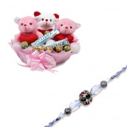 diamond, Beads Bhaiya Bhabhi Rakhi With All About Love