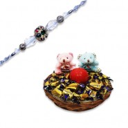 diamond, Beads Bhaiya Bhabhi Rakhi With Feel Good With Love