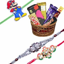 Set Of 3  Rakhi With...