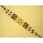 Tricolour Beads Rakhi