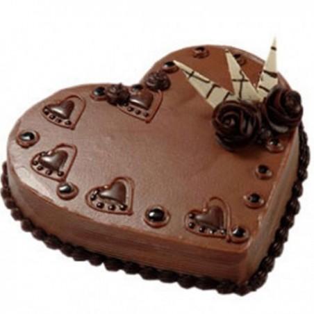 Heart shape Eggless  Cake - 2Kg