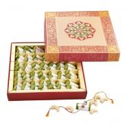 Ghasitaram Rakhi Special Kaju Pista Roll Mithai Box