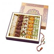 Ghasitaram Rakhi Special Assorted Dryfruit Mithai Box