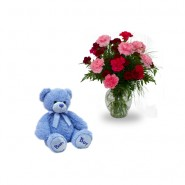 Cute Teddy & Roses