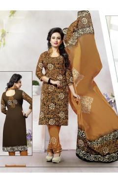 Brown Cotton Salwar
