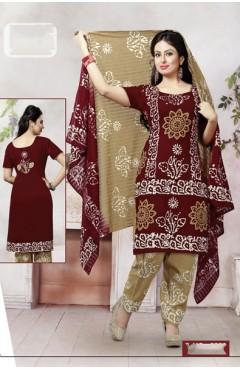 Maroon Cotton Salwar