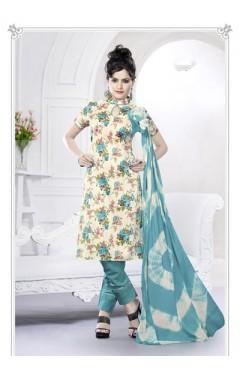Beige Cotton Salwar