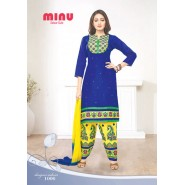 Blue Cotton Salwar