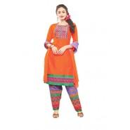 Orange Cotton Salwar