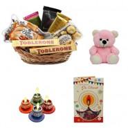 Diwali Gift Basket With Teddy