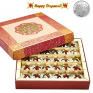 Dryfruit Anarkali Mithai with Silver Plated Coin