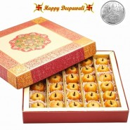 Dryfruit Apple Mithai with Silver Plated Coin