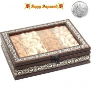 Dryfruit Fancy Box with Silver Plated Coin