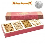 Pink Dryfruit Box with Silver Plated Coin
