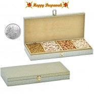 SA-223 Dryruit Gift Box 600gms with Silver Plated Coin