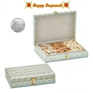 SA-222 Dryfruit Gift Box 450gms with Silver Plated Coin