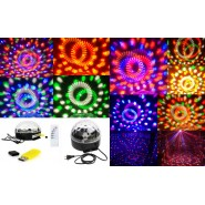 Voice Activated Disco DJ Party LED Crystal Magic Ball Stage Light