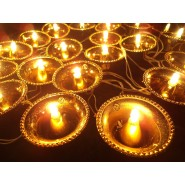 21 GOLDEN DIYA LIGHT STRING