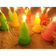 COLORFUL CANDLE LED GOLDEN LIGHT STRING