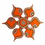 Big Floor Acrylic Artificial Rangoli