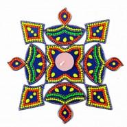 Acrylic Artificial Diya Pattern Rangoli