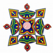 Acrylic Artificial Kuyri Shaped Rangoli