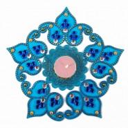 Blue Shaded Artificial Diwali Rangoli