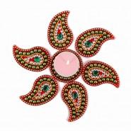 Acrylic Artificial Traditional Kuyri Shaped Rangoli
